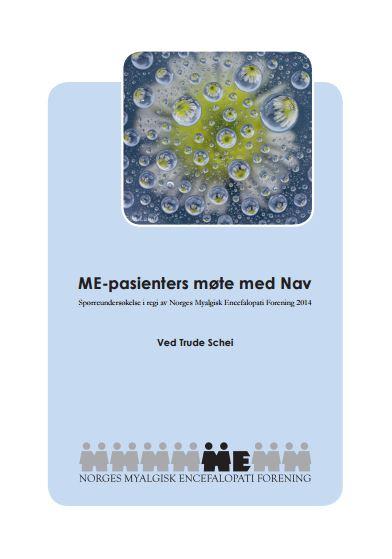 """Bilde av forsiden til """"ME-pasienters møte med NAV"""""""
