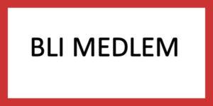 """Bilde med rød ramme. Svart tekst i midten sier """"bli medlem"""""""