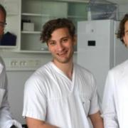 Karl Johan Tronstad, August Hoel og Fredrik Hoel er blant forskerne som har deltatt i den nye studien. (Foto: Endre Stigen)
